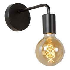 Single wall light in a matt black finishRequires max screw bulb, sold separately. For our recommended bulbs see 'related products'Size: Overall - H 130 x D Back Plate - D 25 x Dia Direct Lighting, Lighting Online, Lighting Ideas, Toilet Wall, Fluorescent Lamp, Emergency Lighting, Light Fittings, White Light, Appliques