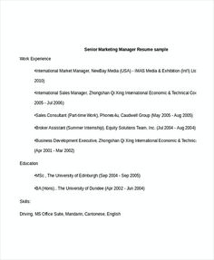 Restaurant Manager Resume Template Sample  Professional Manager