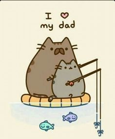 Pusheen love her's dad ! Pusheen the cat Nyan Cat, Gato Pusheen, Pusheen Love, Pusheen Unicorn, Pusheen Stuff, Crazy Cat Lady, Crazy Cats, I Love Cats, Cute Cats