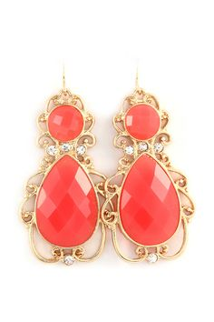 Abigail Filigree Earrings in Coral on Emma Stine Limited