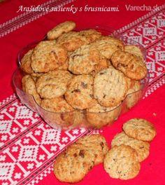 Arašidové sušienky s brusnicami (fotorecept)
