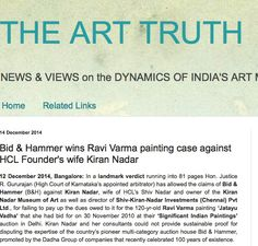 Bid & Hammer wins Ravi Varma painting case against HCL Founder's wife Kiran Nadar, 14th Dec 2015, The Art Truth