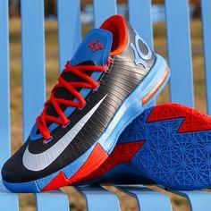 "Available 10.31.13- Nike: KD VI ""Away"" (MNS,GS,PS,TD) -  Blk/Mtllc Slvr #jimmyjazz #trendingnow #Nike #KevinDurant #KDVI #KD6 #Sneakers #Kicks jimmyjazz.com"
