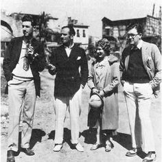 John Ford with Douglas Fairbanks and Mary Pickford, 1928.