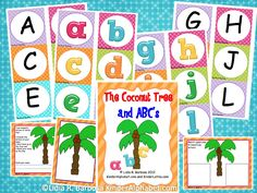 FREE alphabet activities for Chicka Chicka Boom Boom. FREE alphabet activities for Chicka Chicka Boom Boom. Preschool Letters, Learning Letters, Kindergarten Literacy, Early Literacy, Alphabet Letters, Alphabet Stickers, Literacy Centers, Alphabet Activities, Preschool Activities