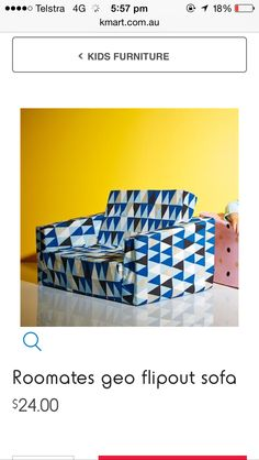 Flexsteel Sofa Flip out kids sofa at Kmart Also available in different patterns at Big W