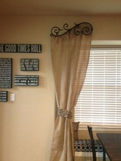 Made to Order  Burlap Curtains  84  90 L by ATouchOfColorDesigns, $50.00