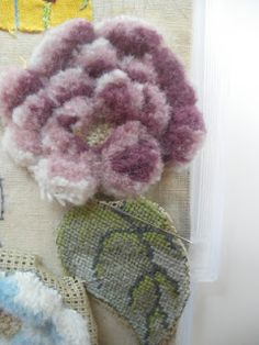 Hanging By A Thread: Berlin Wool Work Roses