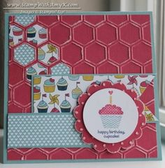 Patterned Occasions Birthday Cupcake by amyk3868 - Cards and Paper Crafts at Splitcoaststampers