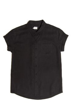 Short sleeve button up with a chest pocket,covered buttons & rolled sleeves. 100% modal. Click for fit guide.