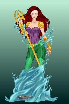 Ariel [as a warrior dressed as a mermaid] (Drawing by ShanShan Disney Au, Disney And Dreamworks, Disney Love, Disney Magic, Disney Stuff, Jedi Princess, Disney Princess Art, Disney Fan Art, Sailor Princess