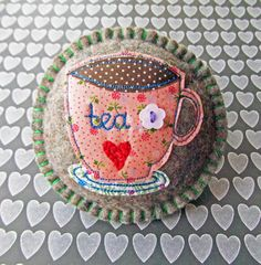Your place to buy and sell all things handmade Jewelry Art, Fashion Jewelry, Wool Sweaters, Pin Cushions, Pretty Flowers, Wool Felt, Hand Embroidery, My Design, Tea Cups