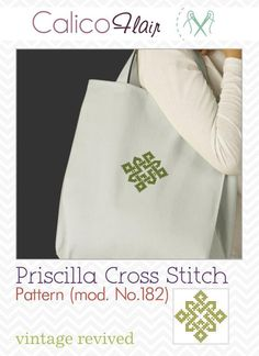 Looking for your next project? You're going to love Priscilla Cross Stitch Motif mod. No.182 by designer CalicoFlair.