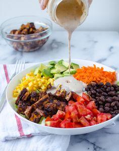 Copycat CPK: Chopped BBQ Tofu Salad - Delicious Knowledge