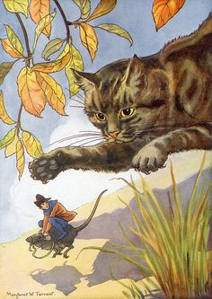 """""""Tom Thumb"""".Art by Margaret Tarrant .- A Brothers Grimm Fairytale"""