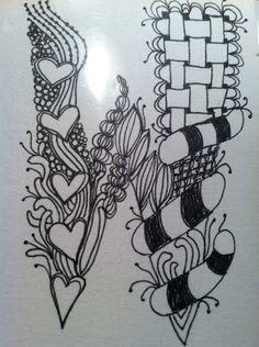 My Art Journal: Zentangle Alphabet