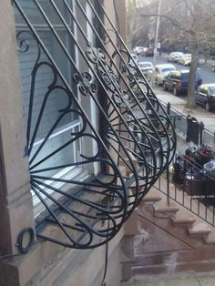 Here is the decorative bowed window guard our installers put in today. #windowguardsny