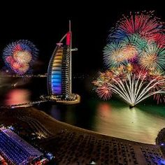 New Years Fireworks - Dubai by Jaideep Abraham on Jumeirah Beach Hotel Dubai, Dubai Resorts, Beach Hotels, Hotels And Resorts, Dubai City, Dubai Uae, Dubai New Years Eve, Wonderful Places, Beautiful Places