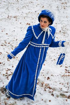 Slip into this CUSTOM MADE period design coat and feel yourself transported to the days of Jane Austen walking the wintry streets of England.