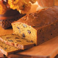 Our favorite Breakfast for fall, Taste Of Home Pumpkin Bread!  I bake it in 5 soup cans (not the easy tab open ones) for 1 hour to make 5 small loaf.  Easy to freeze or give as gifts!