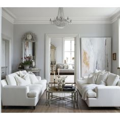 French - living room - Slettvoll ❤ liked on Polyvore