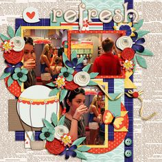 Refresh - MouseScrappers - Disney Scrapbooking GalleryAmazing Year July 1 http://store.gingerscraps.net/Amazing-year-July-1..html by Tinci Designs Dream by Day by Kristin Cronin Barrow and Shawna Clingerman