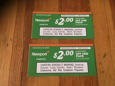 This is a set of Newport Cigarette coupons. Cigarette Coupons Free Printable, Free Printable Coupons, Free Coupons Online, Marlboro Coupons, Newport 100s, Chesterfield Cigarettes, Newport Cigarettes, Marlboro Cigarette, Smoking Causes
