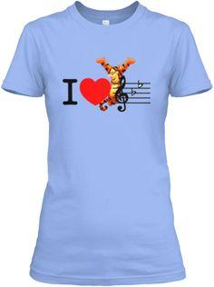 Music T Shirts And Hoodies | Cheap Price Light Blue Women's T-Shirt Front