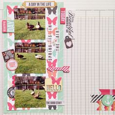 Layout 'Spring is in the air' for Life.Paper.Scrapbook.