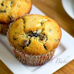 Chocolate Chip Muffins.  A - They are good, but something seemed like it was missing, but I'm not sure what.