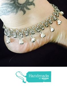 Chainmaille Anklet, Belly Dancing Anklet, Bells Anklet, Chain Mail, Chain Maille from Alyssa Dyane Creations https://www.amazon.com/dp/B01CXGEGSA/ref=hnd_sw_r_pi_dp_e1F5wb2GTK455 #handmadeatamazon