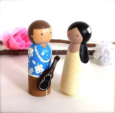 hawaiian theme wedding cake toppers