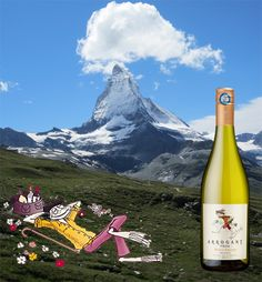 Arrogant Frog Tutti Frutti White is on the peak… at 2600 meters a.s.l to be precise, at Hotel Riffelberg, in Zermatt, Switzerland. This is just in front of the Matterhorn mountain, and you can now enjoy the wine and at the same time, enjoy one of the most beautiful mountains in the world !