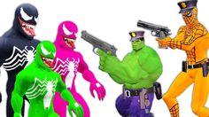 Venom Joker Robbery Prank   Police Spiderman Hulk Frozen Elsa Cartoons  ...