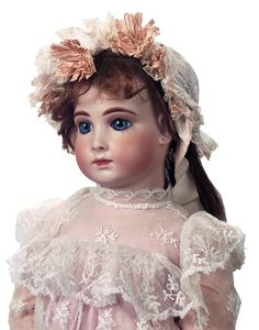 "View Catalog Item - Theriault's Antique Doll Auctions--22"" 8 H Halopeau"
