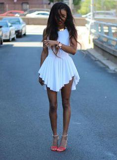 White Sexy Short Summer Dress