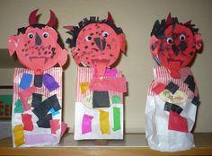 mikulas cert a andel : Mikuláš, anděl a čert Kindergarten, Preschool, Christmas, Creative, Xmas, Kid Garden, Kindergartens, Navidad, Noel