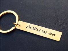 Custom Keychain, The DOTA role quote personalized keychain, Magina, Golden key chain, Hand Stamped - Personalized,Geek key chain