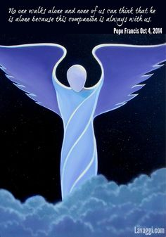 Pope Francis speaks on angels.