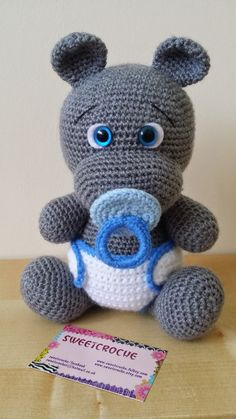 CrochetHippo-HippoPlush-HippoStuffedAnimal-HippoPlushie-HippoStuffedToy-CrochetHippopotamus-StuffedAnimals-BabyShower-CrochetToys-GiftIdeas by Sweetcroche