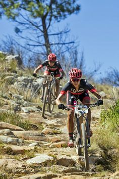 Ariane Kleinhans and Annika Langvad during stage 2 of the 2016 Absa Cape Epic Mountain Bike stage race from Saronsberg Wine Estate in Tulbagh, South Africa on the 15th March 2016 Photo: Dominic Barnardt/Cape Epic/SPORTZPICS