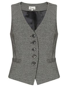 Somerset by Alice Temperley Donegal Tweed Waistcoat