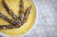 grits and asparagus