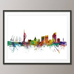 Art print poster White Background (frame not included)