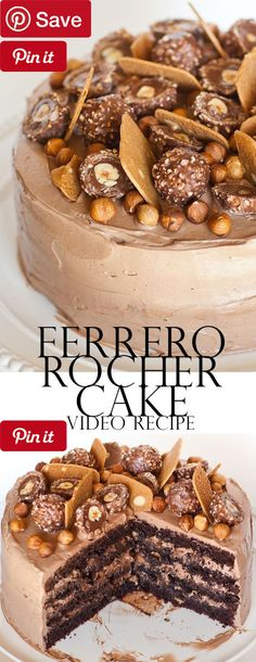DIY Ferrero Rocher Cake - Refrigerated 7 Eggs Condiments 1 cup Nutella 1/2 cup Nutella or other hazelnut-chocolate spread Baking & Spices 1/4 cup All-purpose flour 2 tsp Baking powder 1 3/4 cup Bittersweet chocolate chips 1/4 cup Cocoa powder, unsweetened 1/2 cup Granulated sugar, white 2 1/4 cup Powdered sugar 3/8 tsp Salt Nuts & Seeds 1 Ferrero rocher candies and hazelnuts 1 cup Hazelnuts Snacks 1 Wafer or waffle cookies, crunchy Dairy