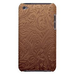 Cute brown seamless floral pattern design iPod touch Case