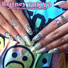Nail wrap❤️ designed  by Britney TOKYO ☆  ✌ ✿ ✡ ✟ ☺ ✞ TOKYO meets Hollywood ✞ ☺ ✟ ✡ ✿
