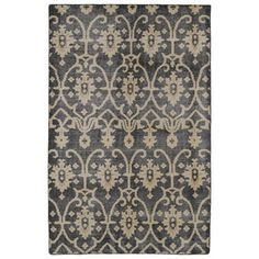 Hand-Knotted Vintage Replica Charcoal Wool Rug (2'0 x 3'0) - Overstock™ Shopping - Great Deals on Accent Rugs
