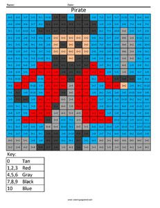 Pirate fun addition math practice small