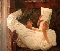 le lecteur du peintre roumain Octavian Smigelschi